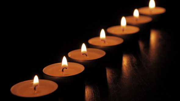 lined-tealight-candles-in-the-dark